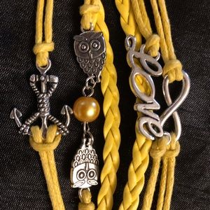 Jewelry - Bold Yellow Friendship Love Bracelet